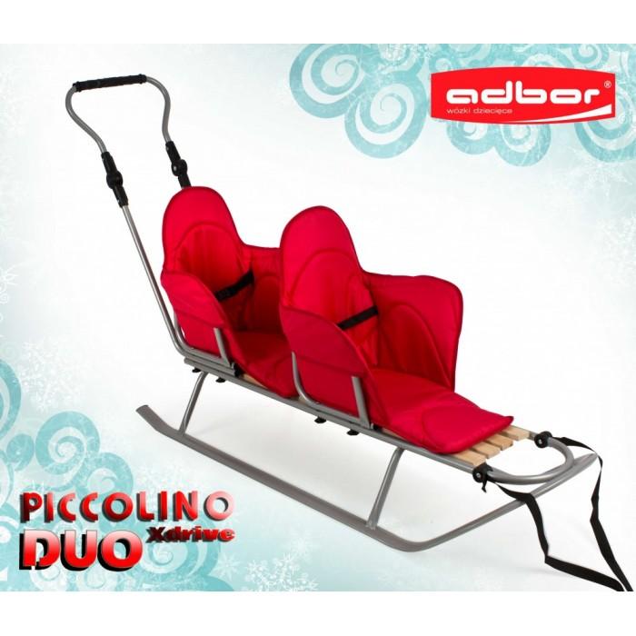 Дитячі санки для двійнят  Adbor Xdrive Duo (Польща)