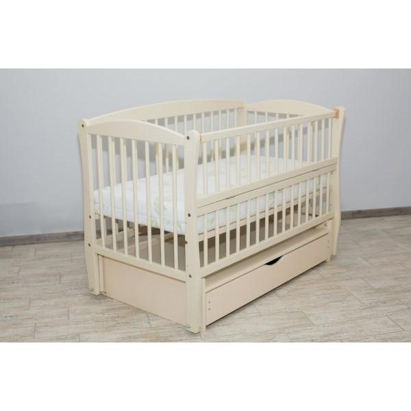 """Дитяче ліжко-колиска """"ЕЛІТНЕ"""", шухляда+ відкидна боковинка"""