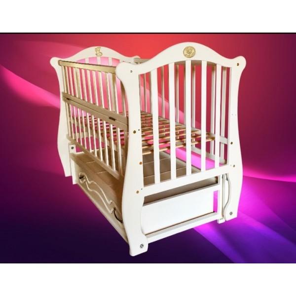 """Дитяче ліжко-колиска на шарнірах """"Білочка"""" (бук)"""