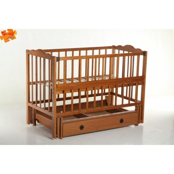 """Дитяче ліжко-колиска на шарнірах """"Настечка"""" (+шухляда)"""