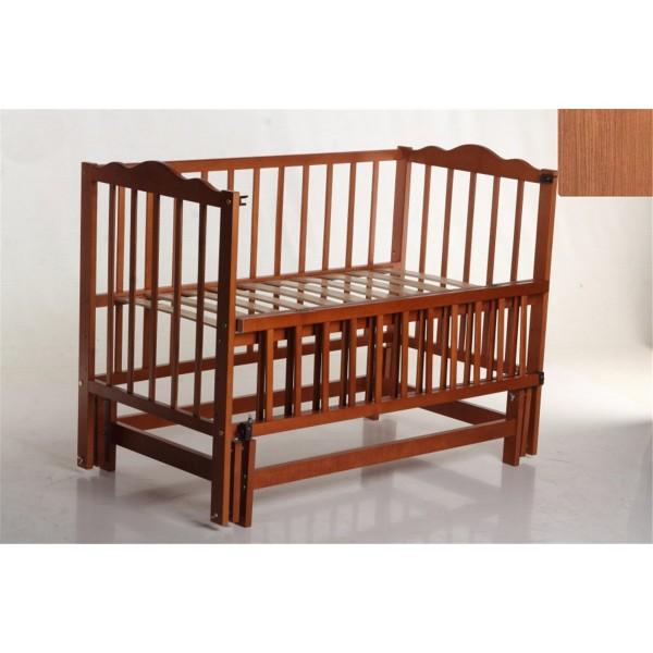 """Дитяче ліжко-колиска на шарнірах """"Настечка-2"""" (відкидна боковина)"""