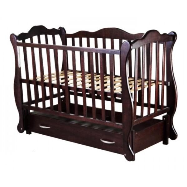 """Дитяче ліжко-колиска на шарнірах """"ЮЛІЯ"""" (бук)"""