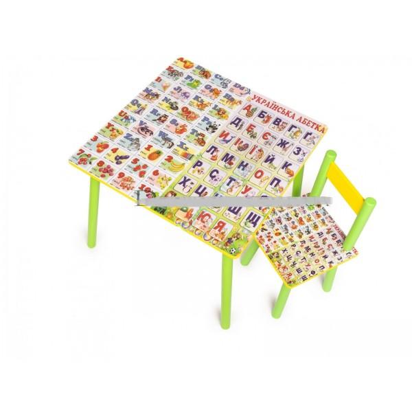 """Дитячий столик зі стільчиками DisneyToys """"Абетка"""" (60*60 см), Україна"""