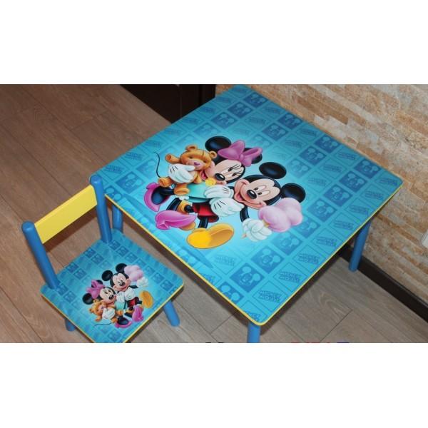 """Дитячий столик зі стільчиками DisneyToys """"Міккі Маус та друзі"""" (60*60 см), Україна (blue)"""