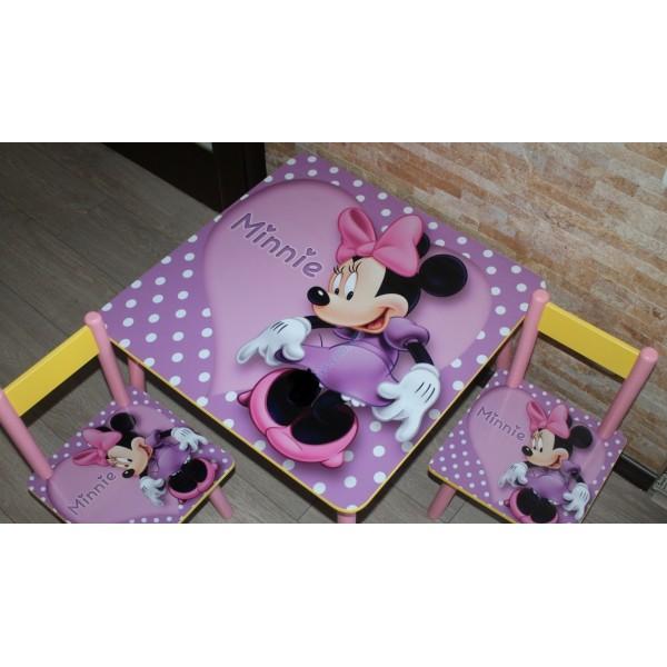 """Дитячий столик зі стільчиками DisneyToys """"Мінні Маус"""" (60*60 см), Україна (purple)"""