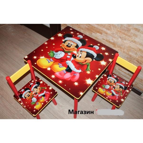 """Дитячий столик зі стільчиками DisneyToys """"Міккі Маус та друзі"""" (60*60 см), Україна (red)"""