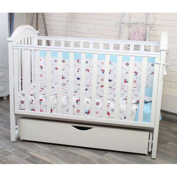 Дитяче ліжечко TWINS ILove (білий)